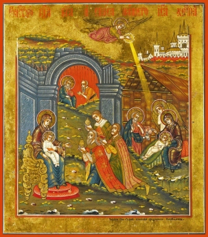 adoration of the magi early russian