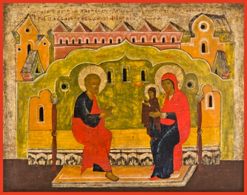 first steps of the mother of god ancient russian