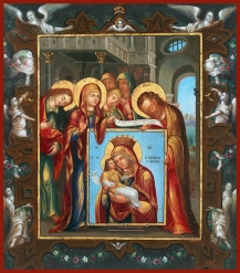 st luke presenting icon of mother of god to mother of god rare add now